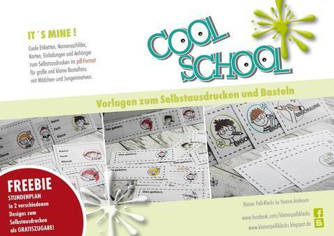 Bastelvorlage • Cool School • It´s mine