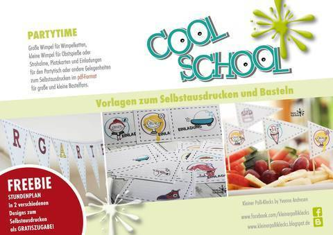 Bastelvorlage • Cool School • Partytime