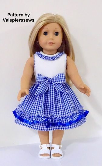 """Ruffle Party Dress to fit Popular 18"""" Dolls at Makerist - Image 1"""