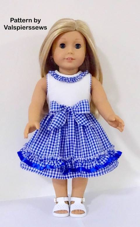 """Ruffle Party Dress to fit Popular 18"""" Dolls"""