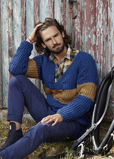 Pullover V-Kragen für Herren Morit Strickanleitung bei Makerist - Bild 1