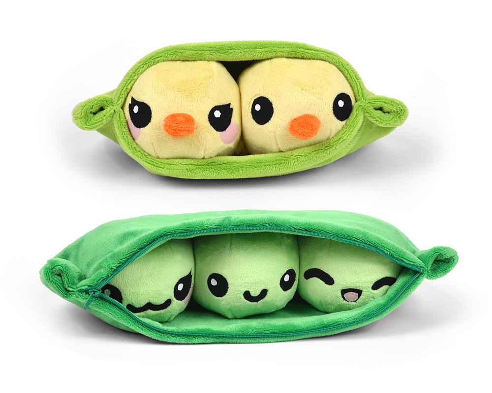 Pea Pod with Chick Peas Plush Toy Sewing Pattern
