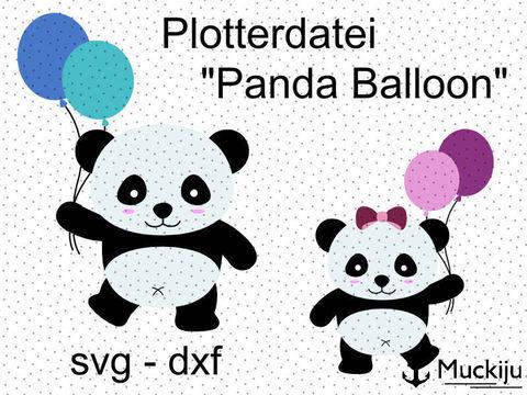 """Plotterdatei """"Panda Luftballoon"""""""