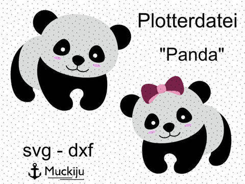 "Plotterdatei ""Panda krabbelnd"""