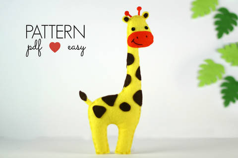 Giraffe Sewing Pattern - Felt Giraffe Toy at Makerist