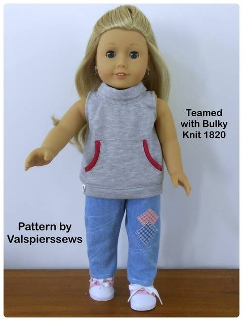 """1813 Gathered Pull-ons for 18"""" dolls"""