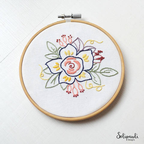 Spring Flower - Hand Embroidery PDF Pattern