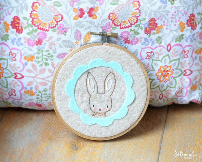 Spring Bunny - hand embroidery PDF pattern & instructions at Makerist - Image 1