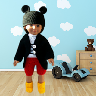 Crochet Mickey Mouse Doll Clothes Pattern