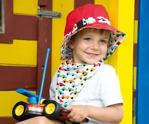 Hut mit passendem Halstuch Nähanleitung mit Schnittmuster