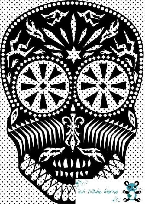 Plotterdatei Skull Totenkopf bei Makerist