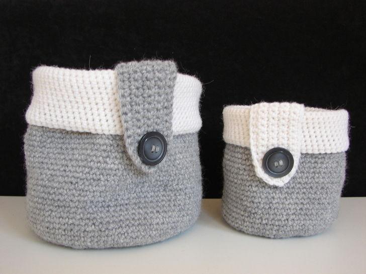 Basket - storage baskets - crochet pattern at Makerist - Image 1