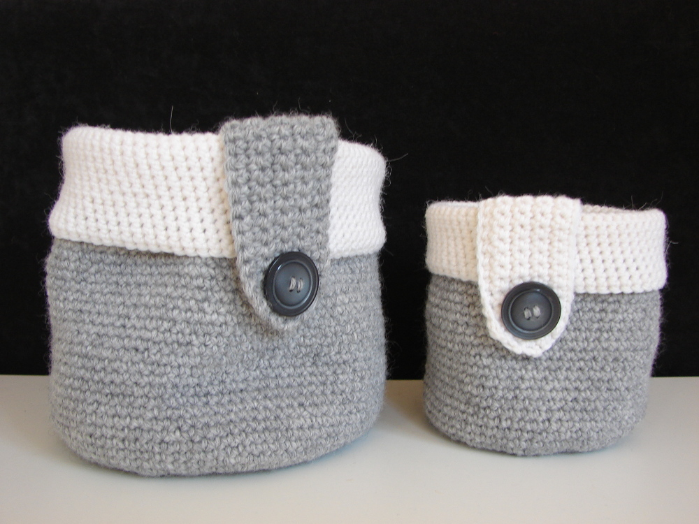 Basket - storage baskets - crochet pattern