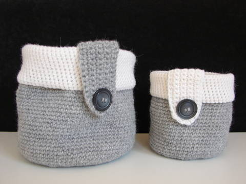 Basket - storage baskets - crochet pattern at Makerist