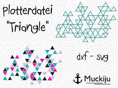 "Plotterdatei ""Origami Triangle"""