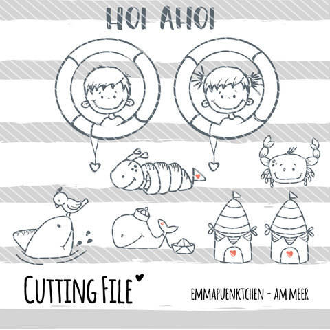 emmapuenktchen ® cutting file - am meer
