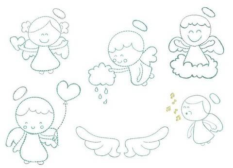 Stickdatei - Little Angels in PES bei Makerist