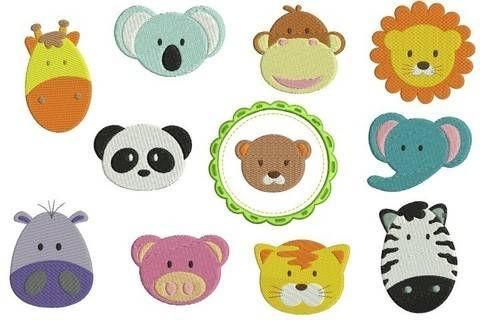 Stickserie - Zoo Minis Puschenset in PES bei Makerist
