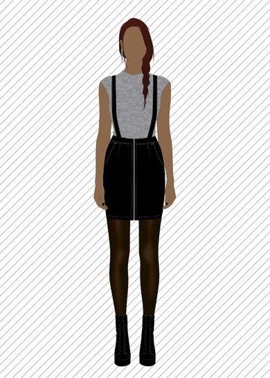 SK707 Jupe à bretelles - Patron de couture PDF chez Makerist - Image 1
