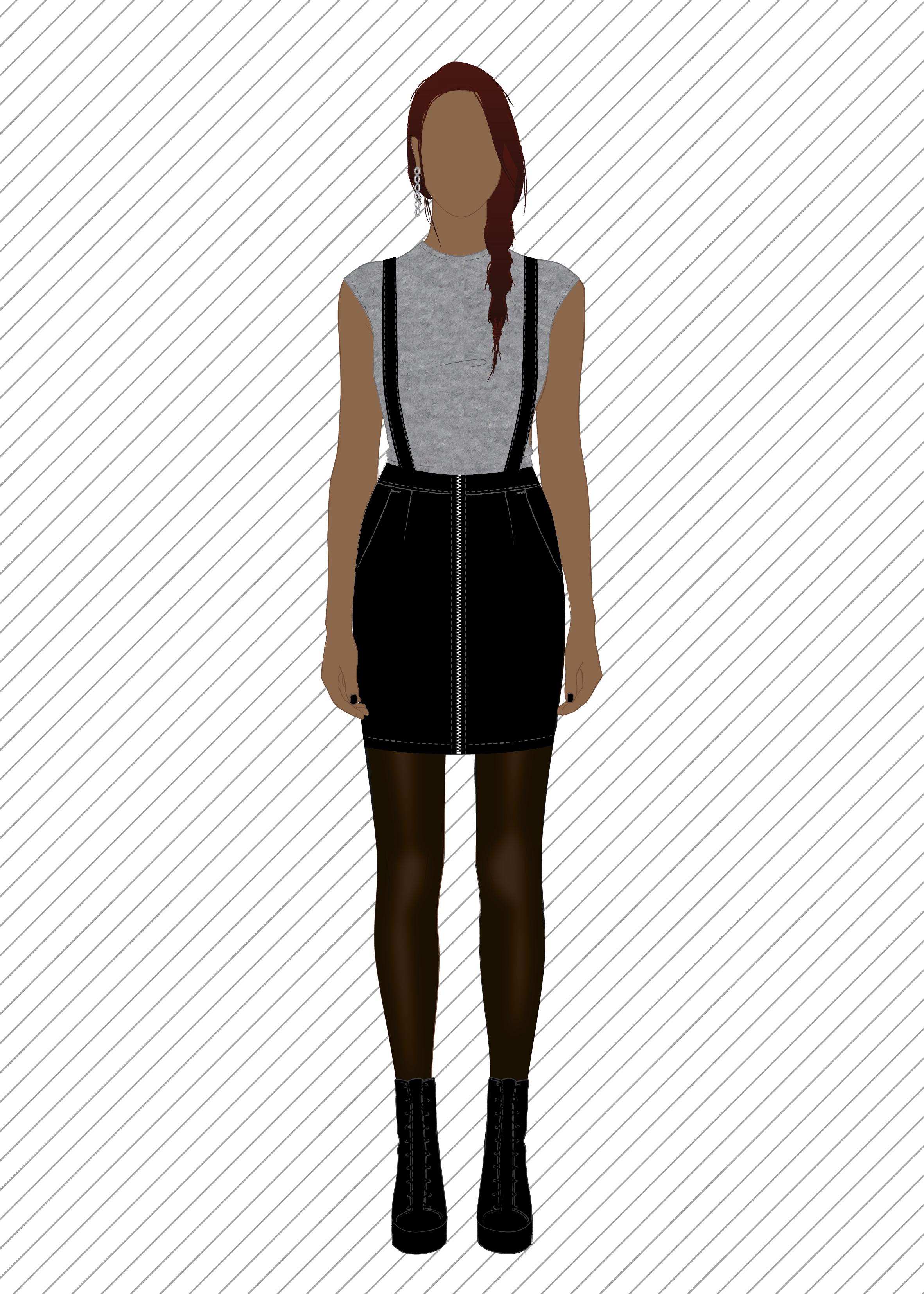 SK707 Jupe à bretelles - Patron de couture PDF