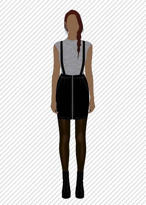SK707 Jupe à bretelles - Patron de couture PDF chez Makerist