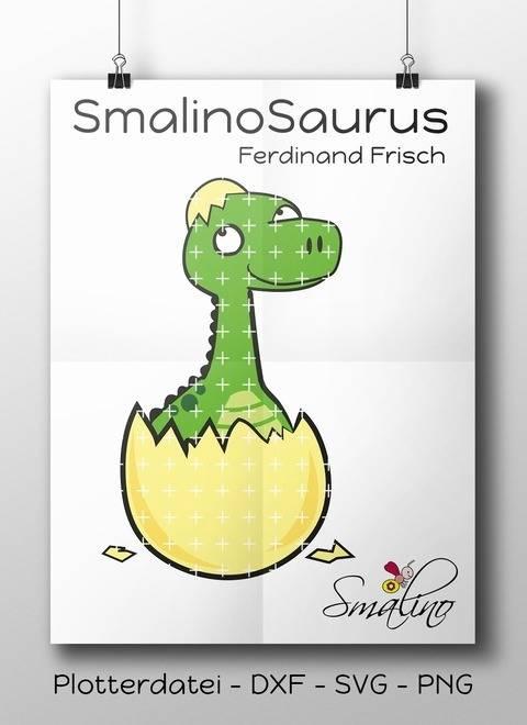 SmalinoSaurus Plottervorlage Ferdinand Frisch bis zu 7-farbig DXF SVG PNG