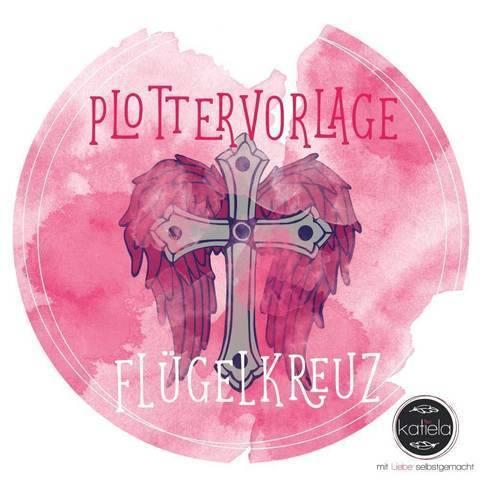 """Plottervorlage Tattoo-Liebelei """"Flügelkreuz"""""""