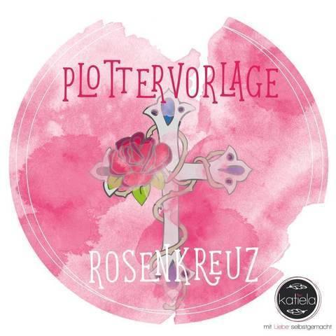 """Plottervorlage """"Rosenkreuz"""""""