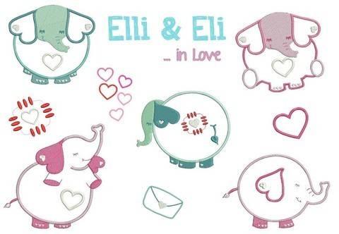 Stickdatei Elli & Eli in Love in PES