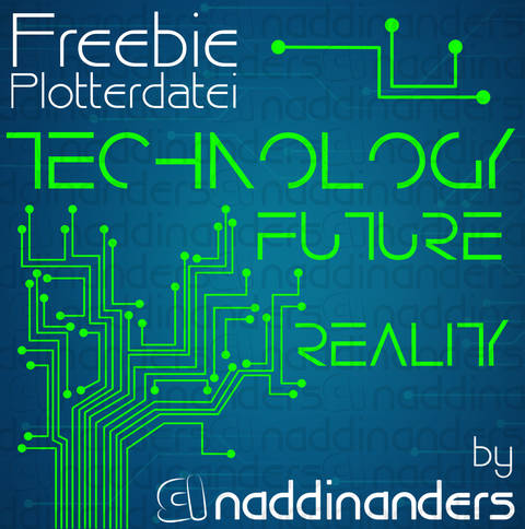 Plotterdatei Technology - Freebie bei Makerist