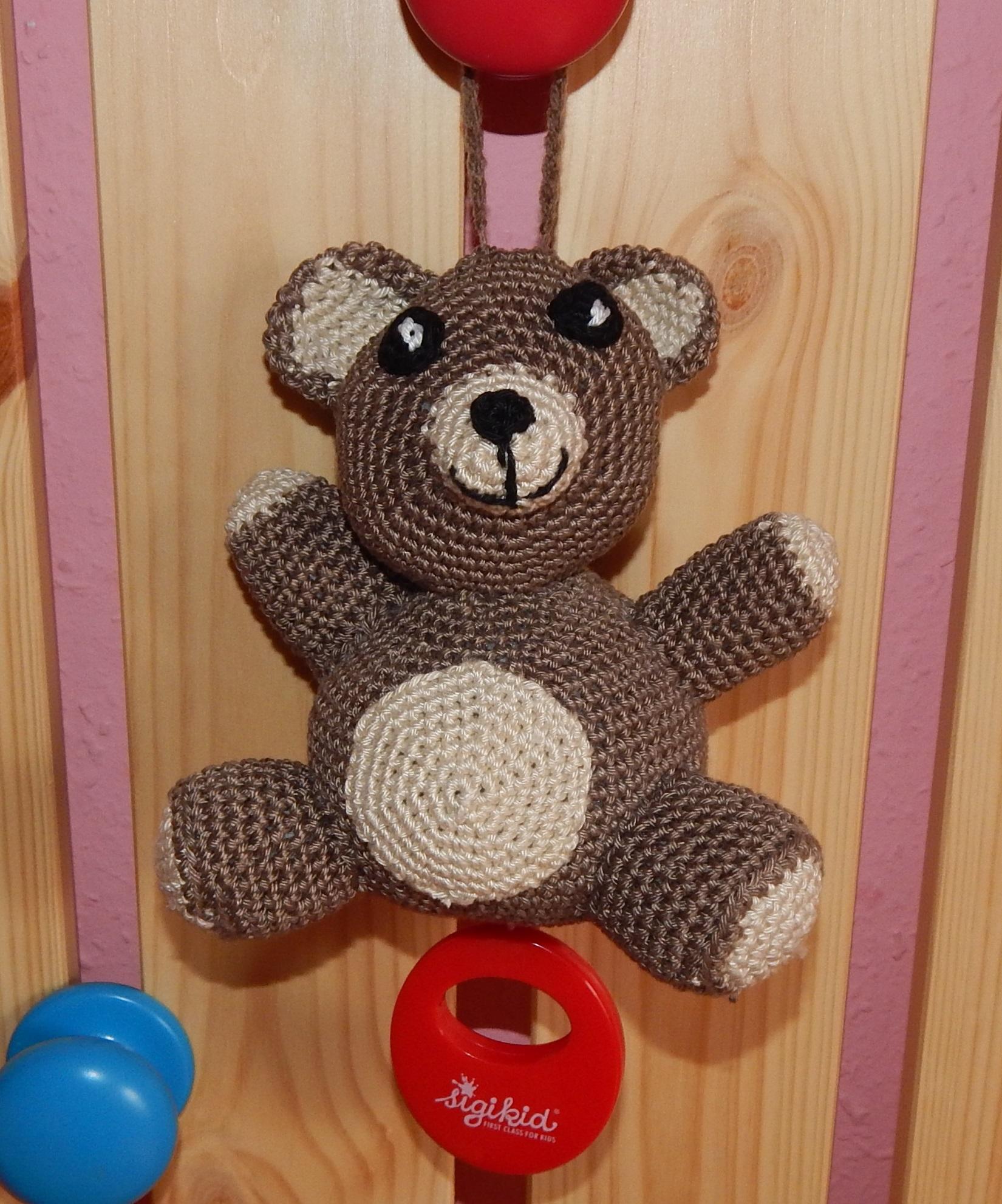 """Häkelanleitung Spieluhr """"Teddy"""""""