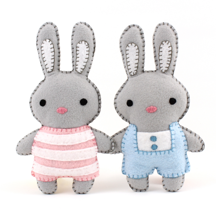 Mini Bunnies Hand Sewing Patterns