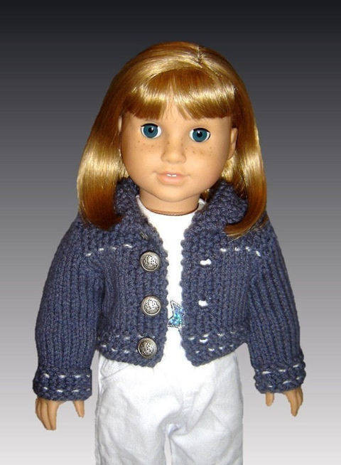 18 inch doll. Jean jacket and skirt.