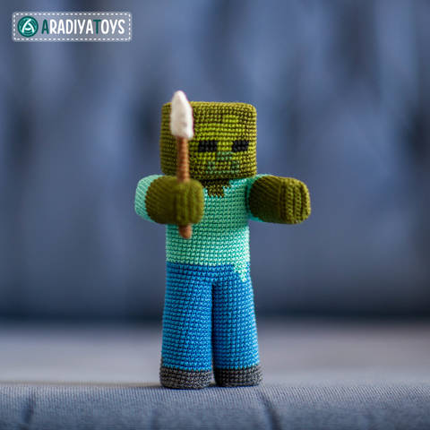 Modèle au crochet de Zombie de «Minecraft» chez Makerist