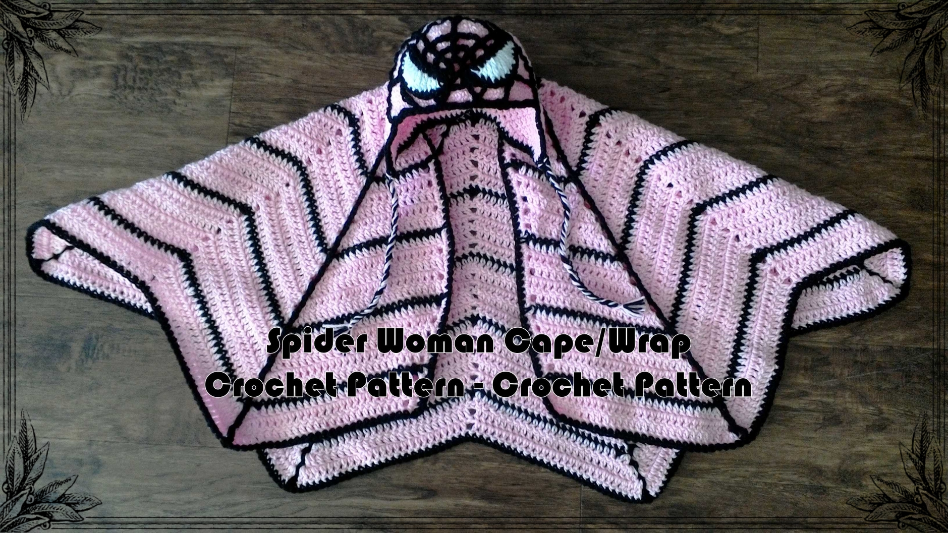 Spider Woman Cape/Wrap Crochet Pattern