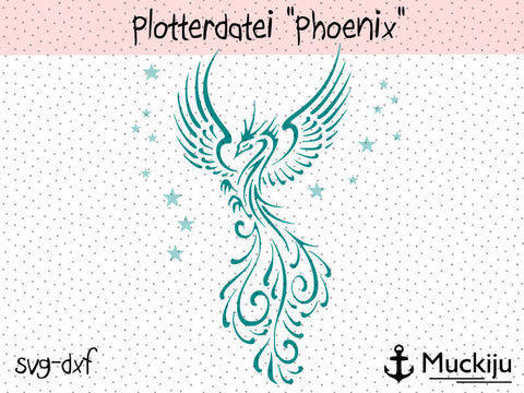 "Plotterdatei ""Phoenix"" bei Makerist"
