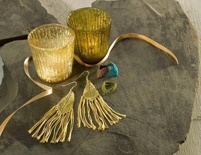 Spitzenringe & Fransen-Ohrhänger Knüpfanleitung bei Makerist - Bild 1