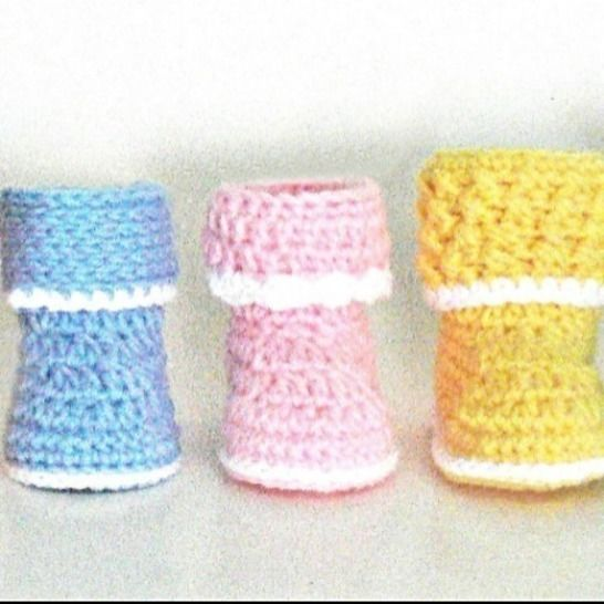 Baby Booties, Baby Slippers Crochet Pattern # 175 at Makerist - Image 1