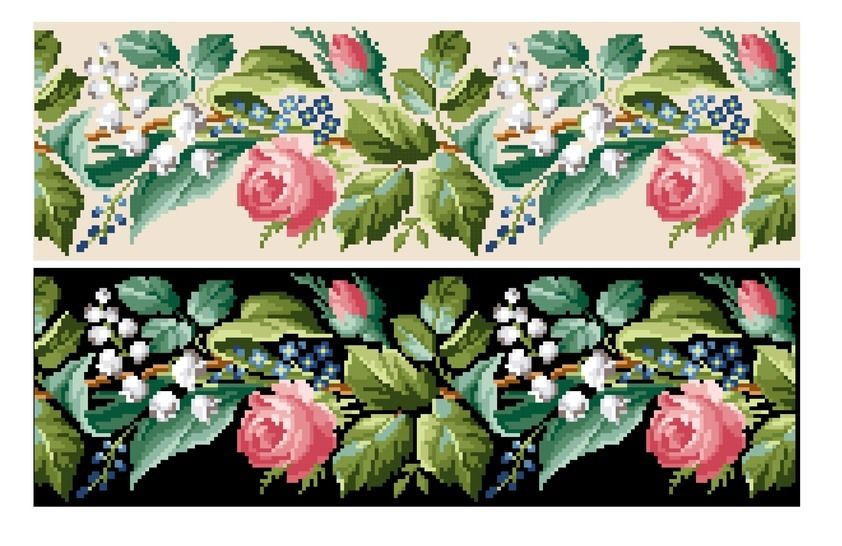 Spring bell pull. Cross stitch pattern at Makerist - Image 1