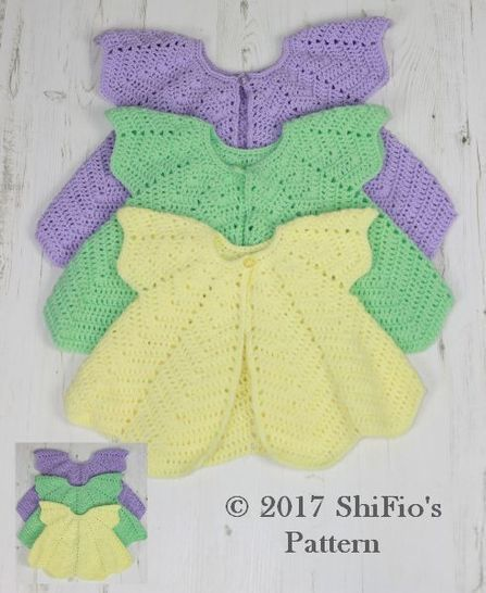 CP368 CROCHET PATTERN For Rippled Angel Top in 3 Sizes, 6 months to 4 years, Girls, Baby, Summer U.K, U.S.A  PDF 368 at Makerist - Image 1