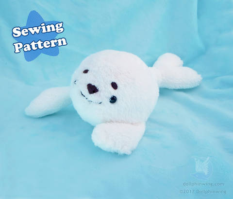 Arctic Seal Plush Sewing Pattern at Makerist
