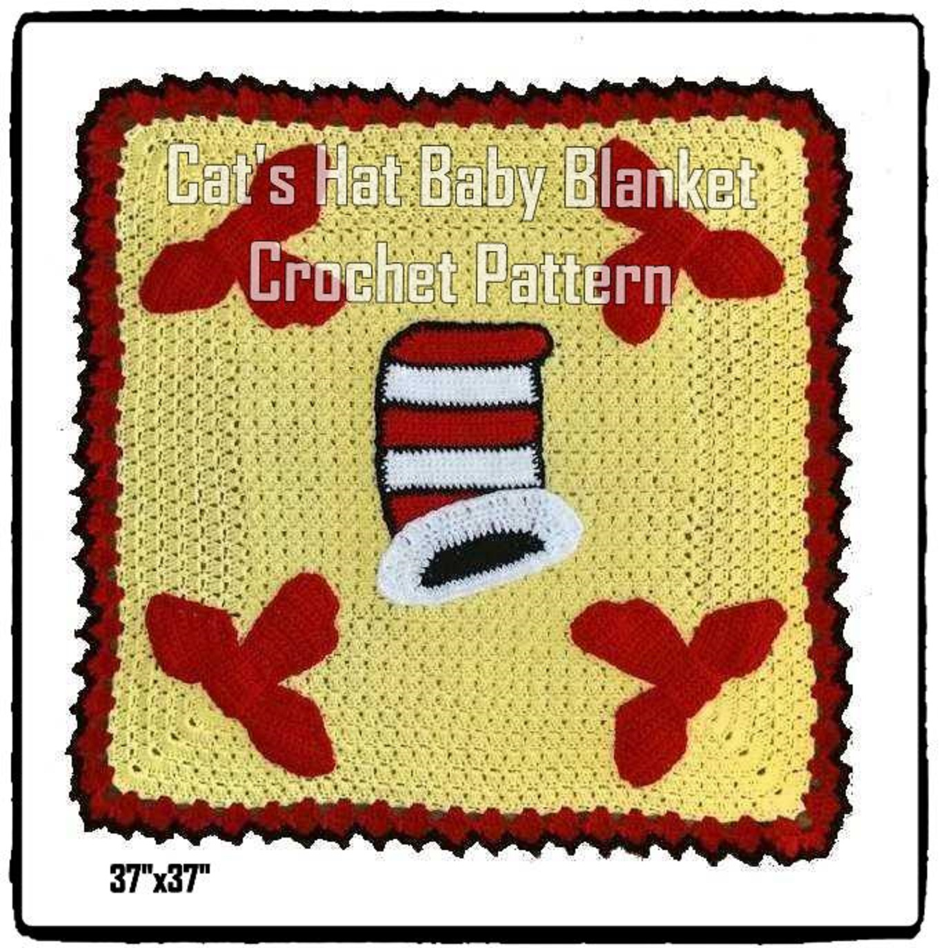 Cat's Hat Baby Blanket Crochet Pattern