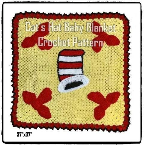 Cat's Hat Baby Blanket Crochet Pattern at Makerist