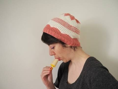 Bonnet Ice Cream - explications tricot chez Makerist