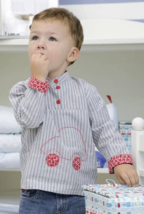 Schnittiges Hemd für kleine Männer Nähanleitung mit Schnittmuster