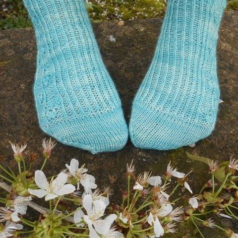 Chaussettes Bourgeons - explications tricot