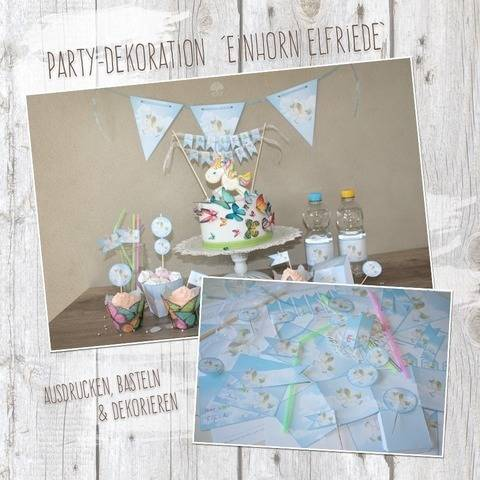 """Einhorn Elfriede"" - DIY Partydekoration bei Makerist"