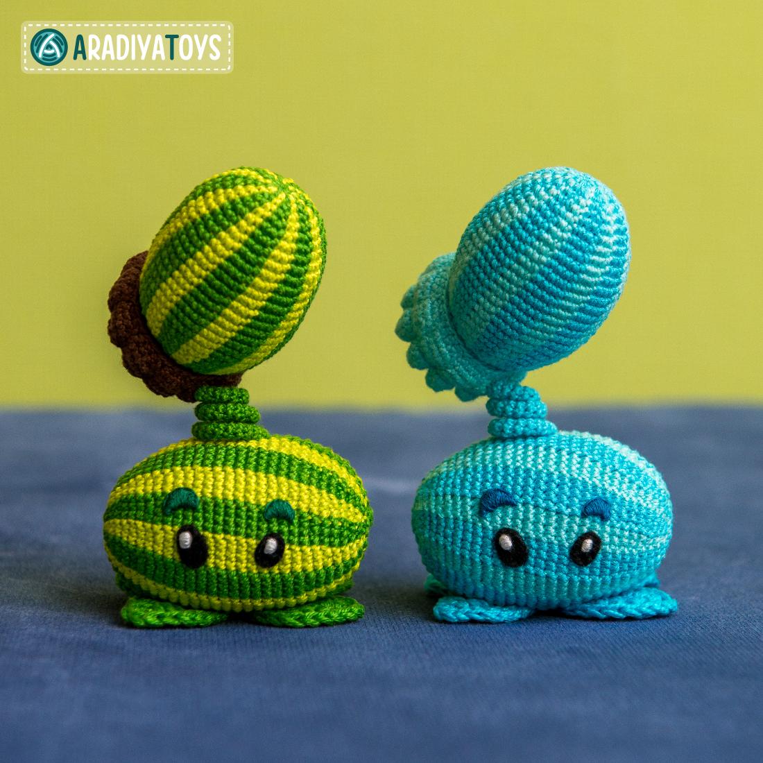 Modèle au crochet de Cata-melon et Courge de «Plantes vs. Zombies»