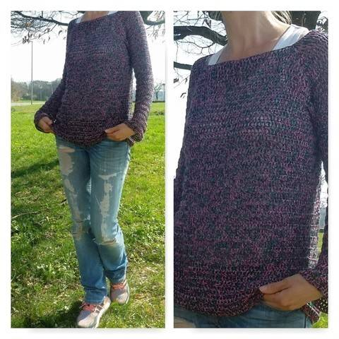 "Häkelanleitung Sweater ""Spring"" bei Makerist"