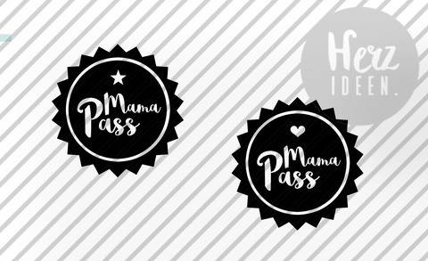 """Plotterdatei """"Mama Pass"""" DXF SVG PNG"""